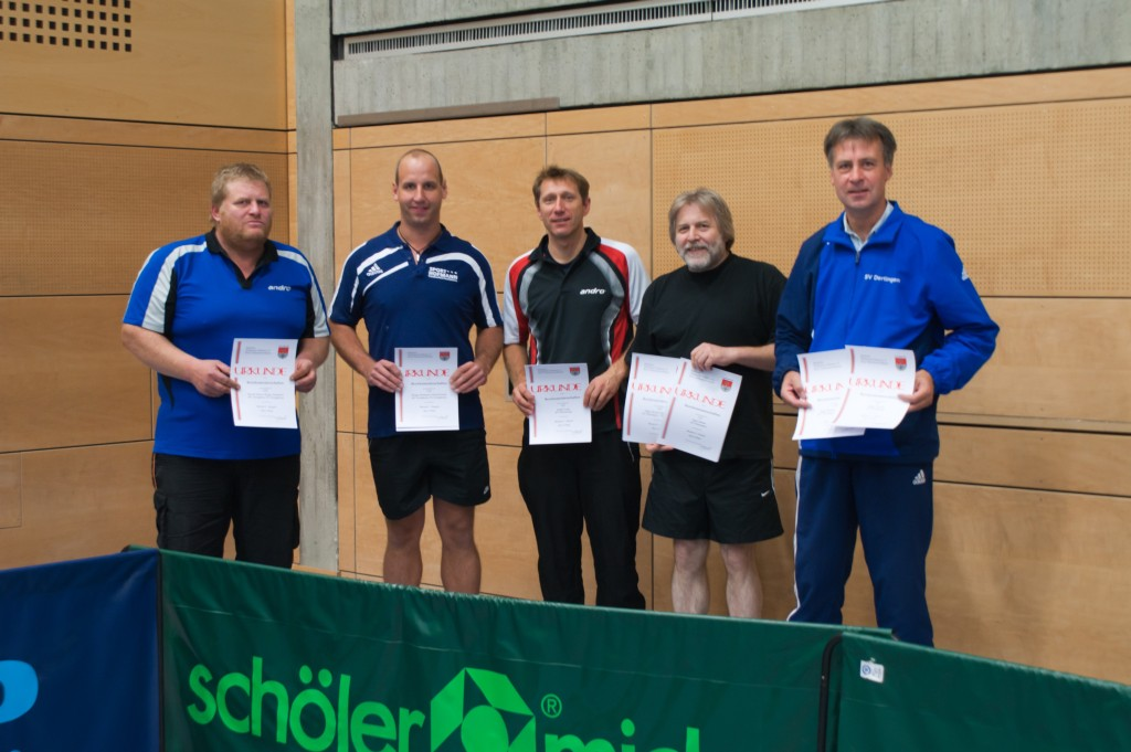 Die Sieger des Wettbewerbs Herren C Einzel und Doppel. Foto: Jürgen Keller