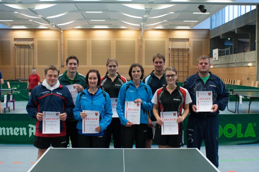 Die Sieger des Wettbewerbs Mixed Herren/Damen. Foto: Christoph Muhr