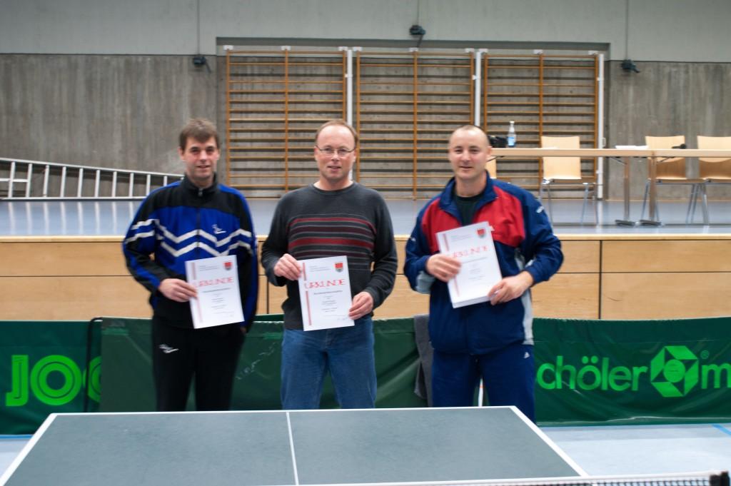 Die Sieger des Wettbewerbs Senioren 1 Einzel. Foto: Christoph Muhr