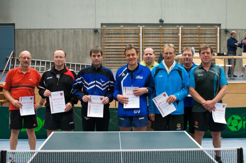 Die Sieger des Wettbewerbs Senioren Doppel. Foto: Christoph Muhr