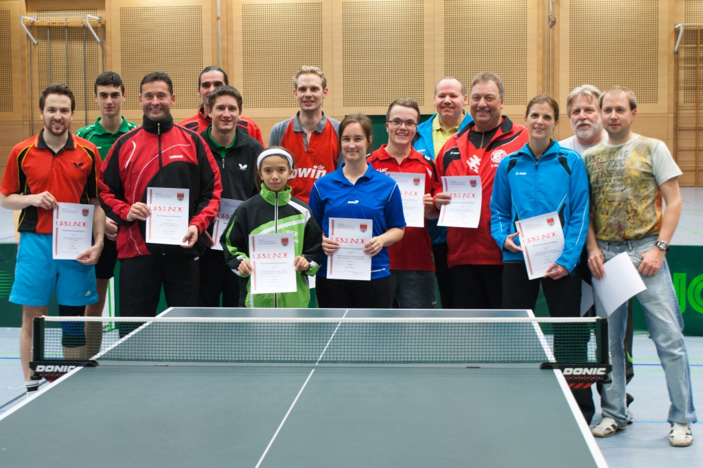 Die Sieger der Wettbewerbe Herren S, Herren A, Herren C und Mixed Herren/Damen. Foto: Christian Hörtreiter