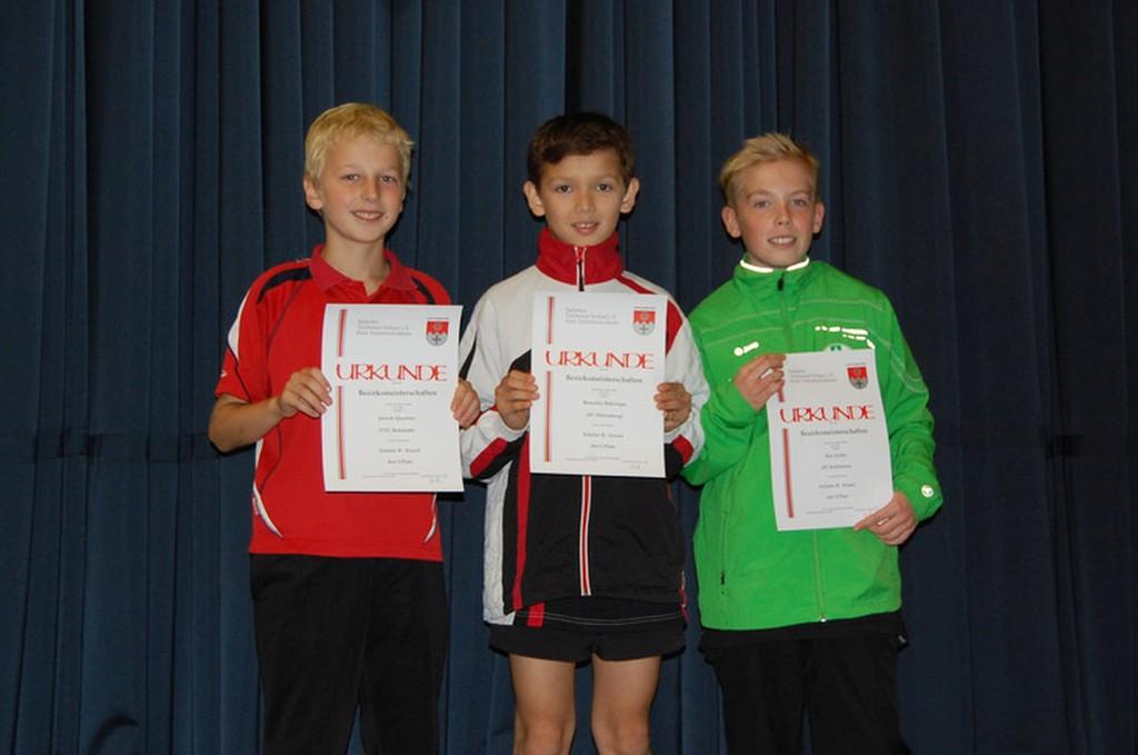 Die Sieger des Wettbewerbs Schüler B Einzel. Foto: Christian Behringer (Dörlesberg)