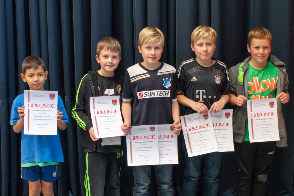 Die Sieger des Wettbewerbs Schüler C. Foto: Christoph Muhr
