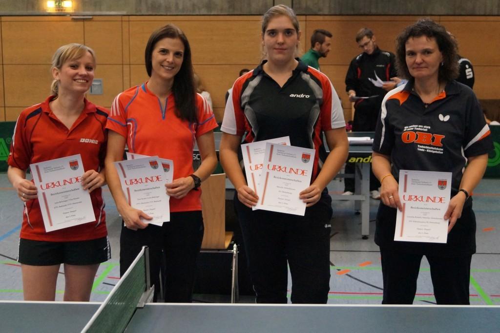 Die Siegerinnen im Wettbewerb der Damen. Foto: Wolfgang Appel