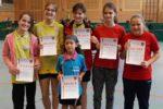 Die Siegerinnen im Wettbewerb der Schülerinnen A-Klasse. Foto: Wolfgang Appel