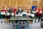 Die Siegerinnen und Sieger der Wettbewerbe Schülerinnen und Schüler A, B und C. Foto: Christian Behringer