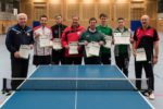 Die Sieger der Wettbewerbe der Herren A Klasse und C-Klasse sowie Herren B-Klasse Doppel. Foto: Udo Anderlik