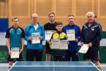 Die Sieger im Wettbewerb der Herren B-Doppel. Foto: Christoph Muhr