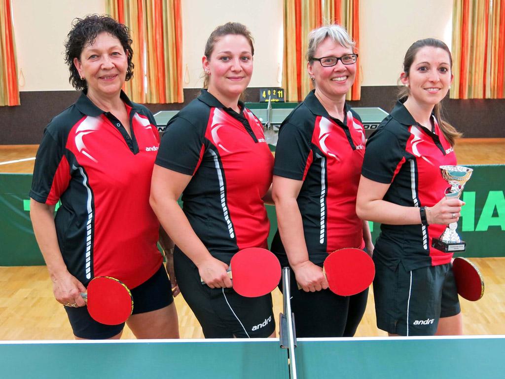 Die Siegerinnen im Tauberpokal der Damen in der Saison 2017/2018: TTC Bobstadt.