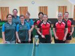 Die Endspielteilnehmerinnen im Tauberpokal der Damen in der Saison 2017/2018: TTV Oberlauda (links) und Sieger TTC Bobstadt (rechts).