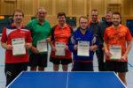 Die Siegerinnen und Sieger der Wettbewerbe Herren C-Klasse Einzel und Herren A-Klasse Einzel.