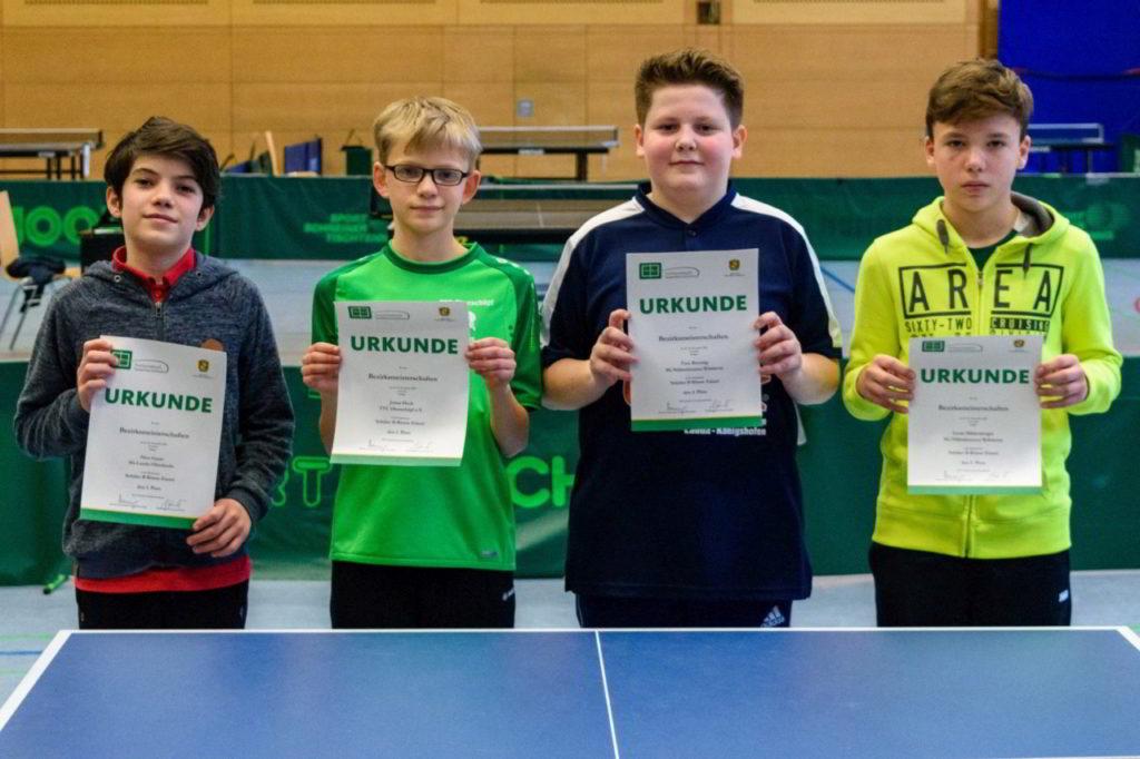 Die Sieger des Wettbewerbs Schüler B Einzel.