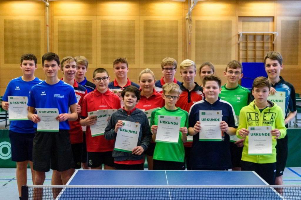 Die Sieger der Wettbewerbe Schüler B und Jungen.
