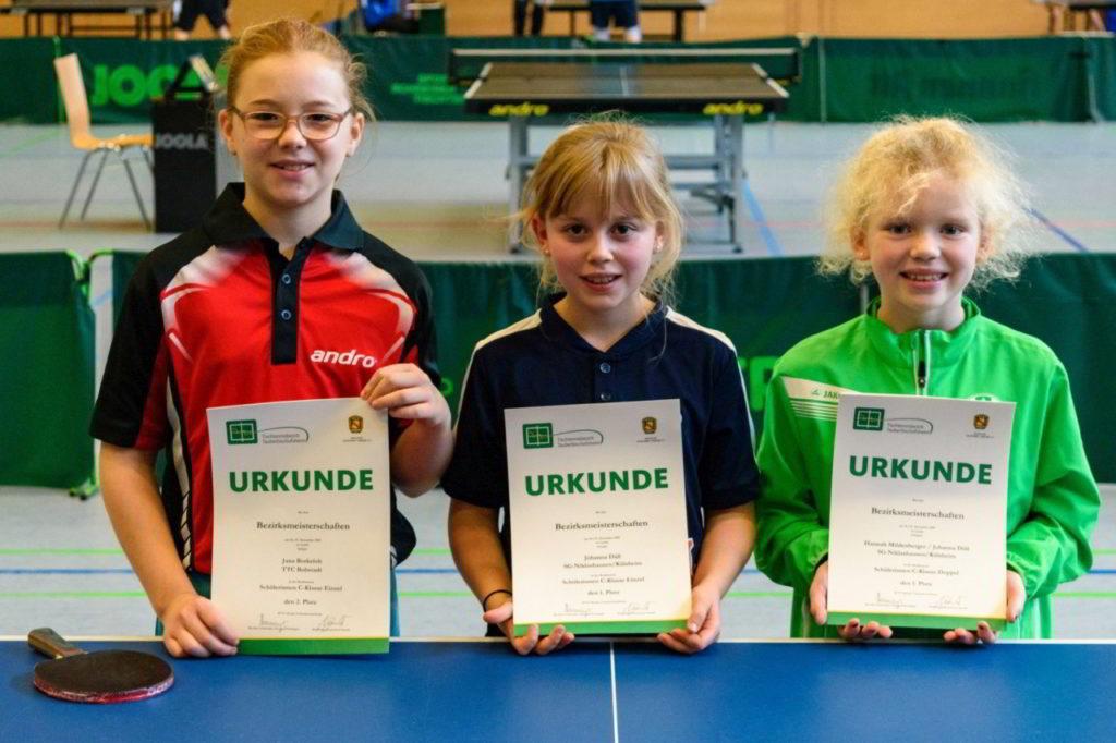 Die Siegerinnen des Wettbewerbs Schülerinnen C.