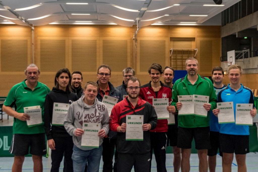 Die Sieger der Wettbewerbe Herren A und Herren C.