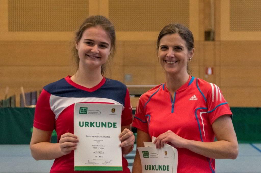 Die Siegerinnen des Wettbewerbs Damen Einzel.