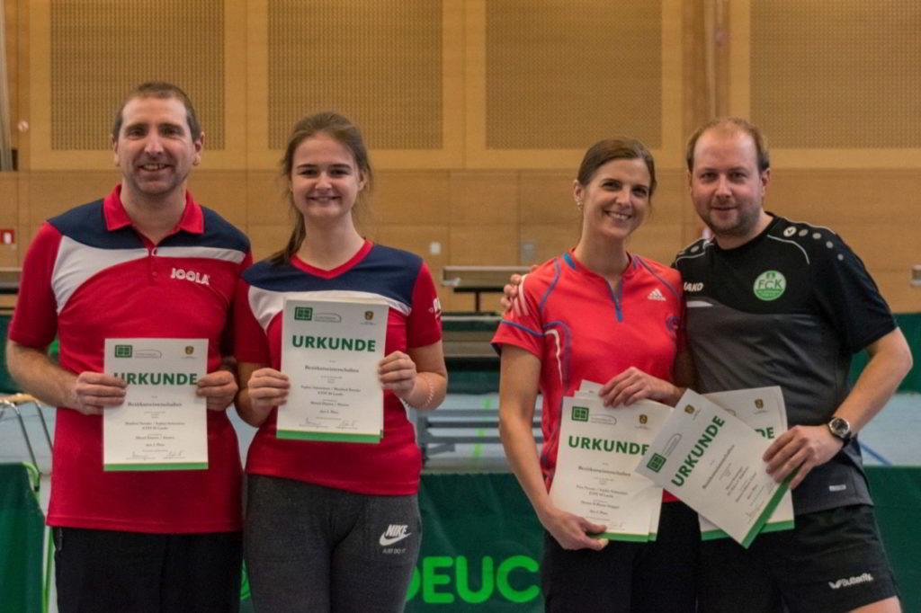 Die Siegerinnen und Sieger des Wettbewerbs Mixed Damen / Herren.